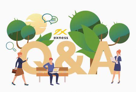 الأسئلة المتداولة (FAQ) عن منصات تداول Exness