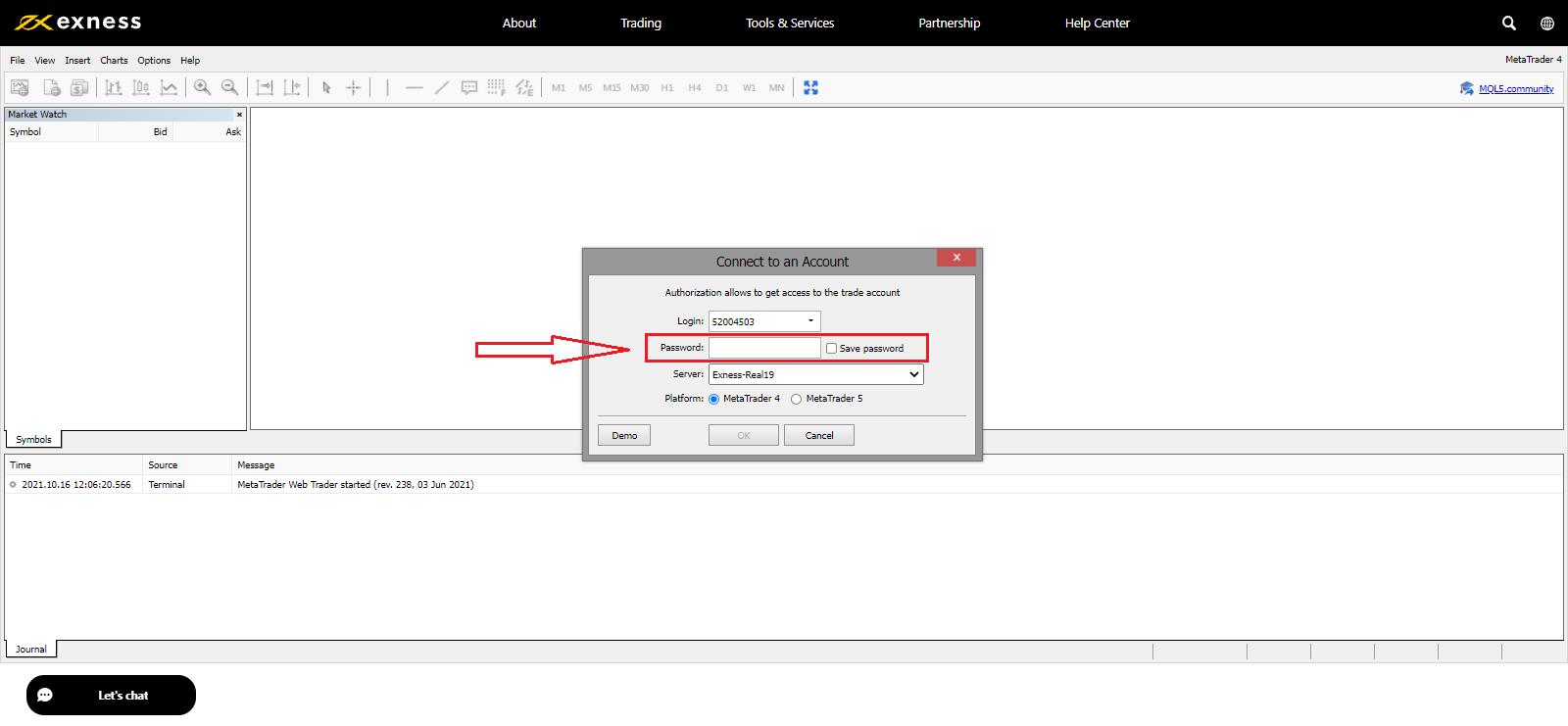 كيفية تسجيل الدخول والبدء في تداول العملات الأجنبية في شركة Exness